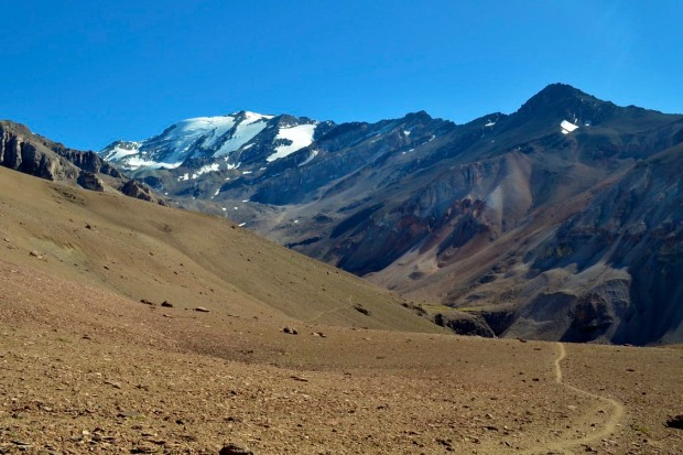 cerro el plomo, mountain climbing, glacier, chile, andes mountains